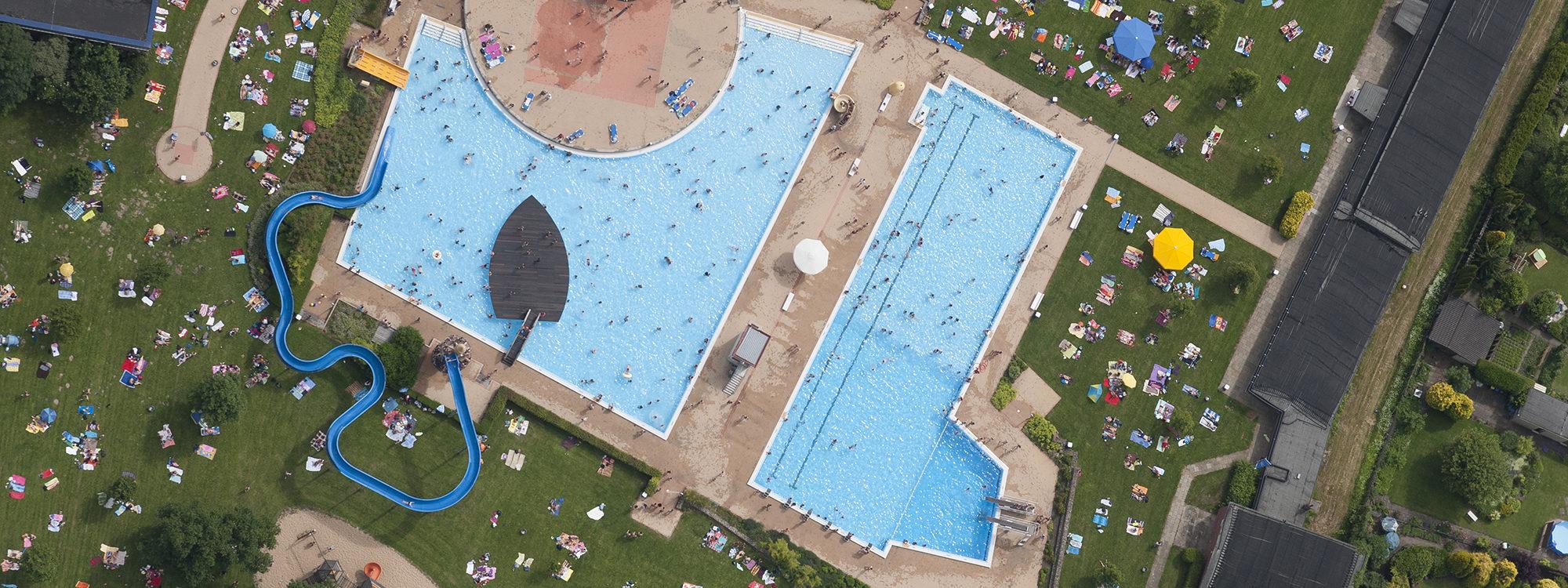 Luftaufnahme Schlosspark Bad Bremen
