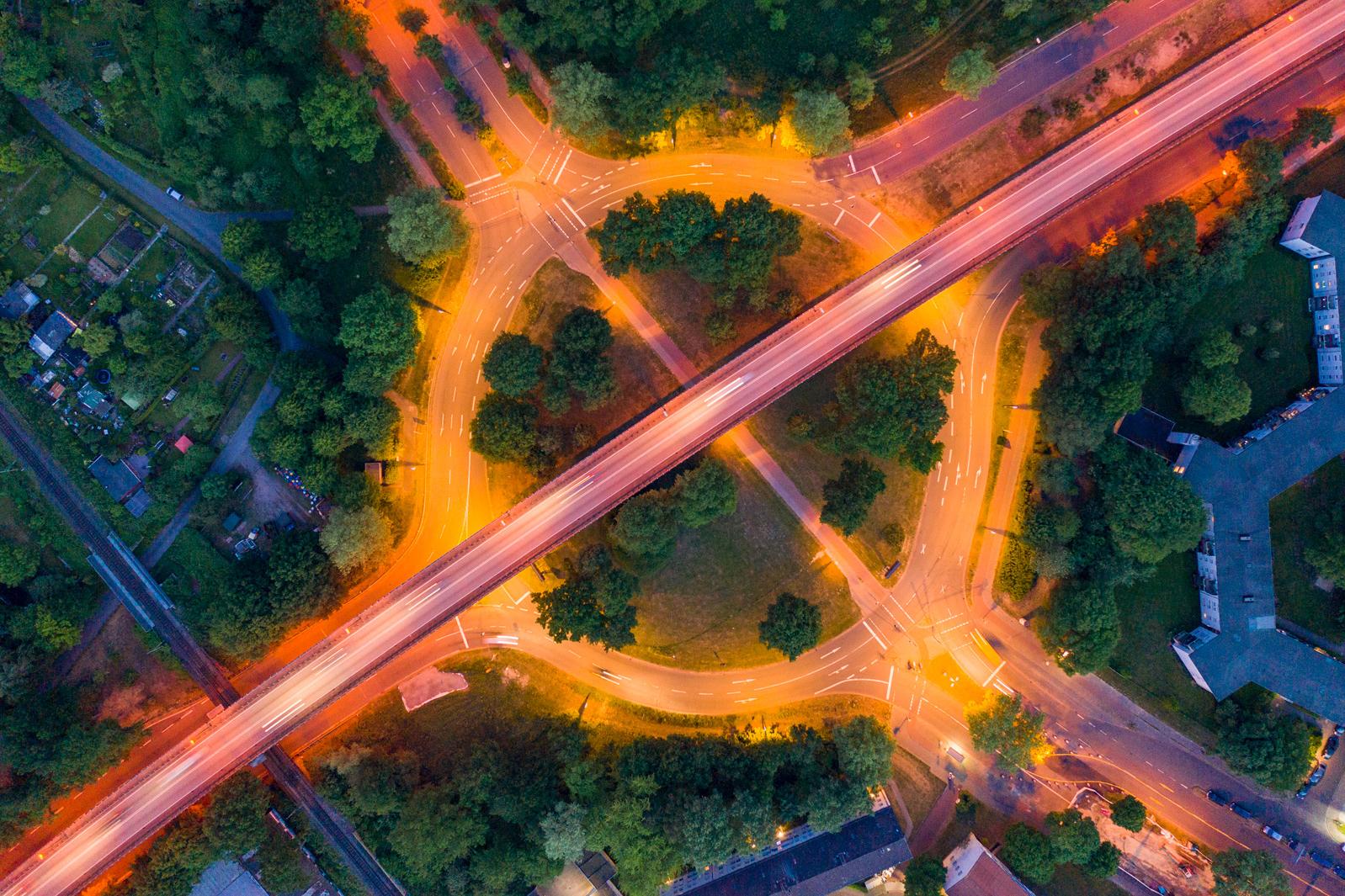 Bremen Findorff Luftaufnahme des Autobahn Zubringers B6