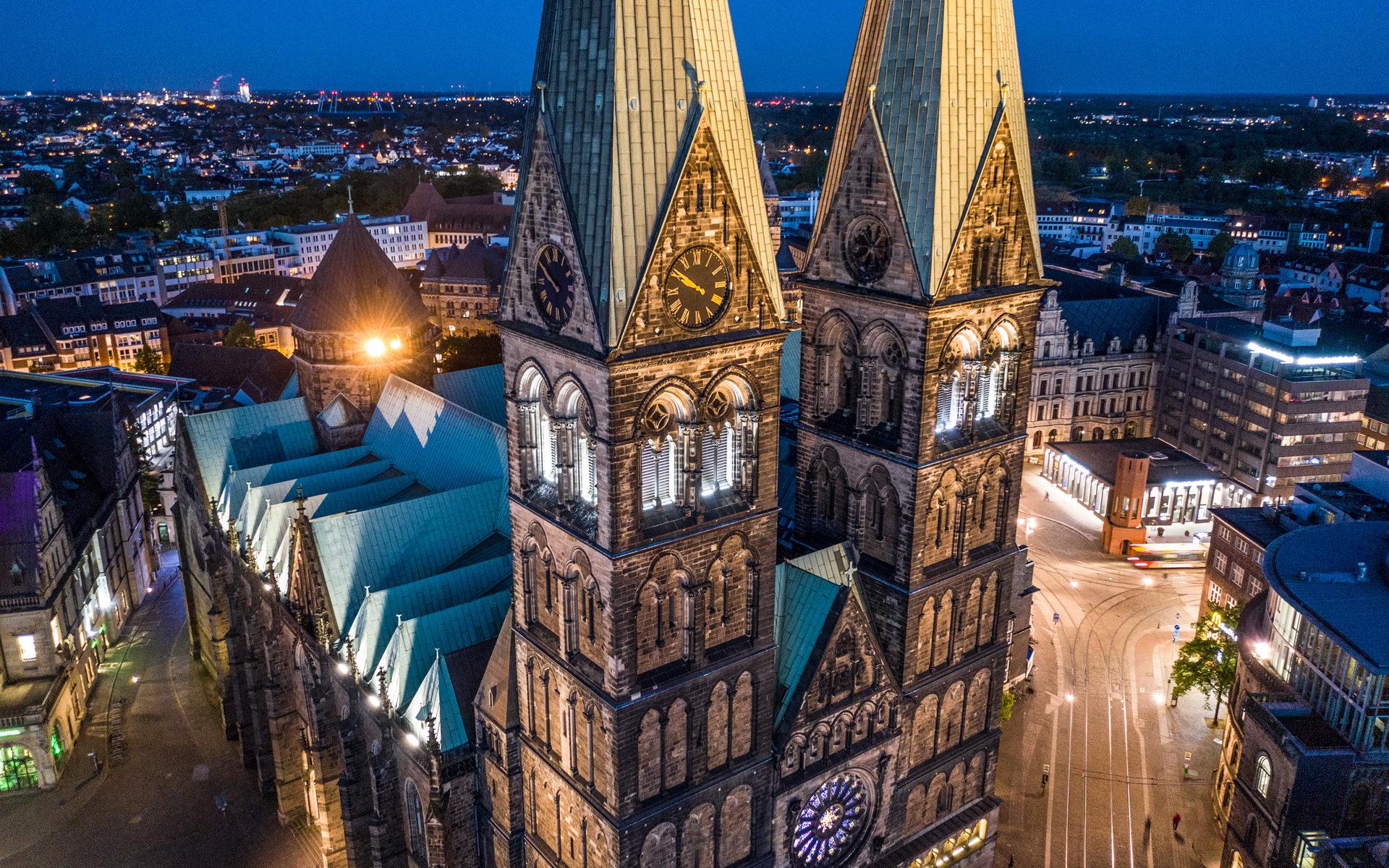 Bremen Luftaufnahme vom Bremer Dom