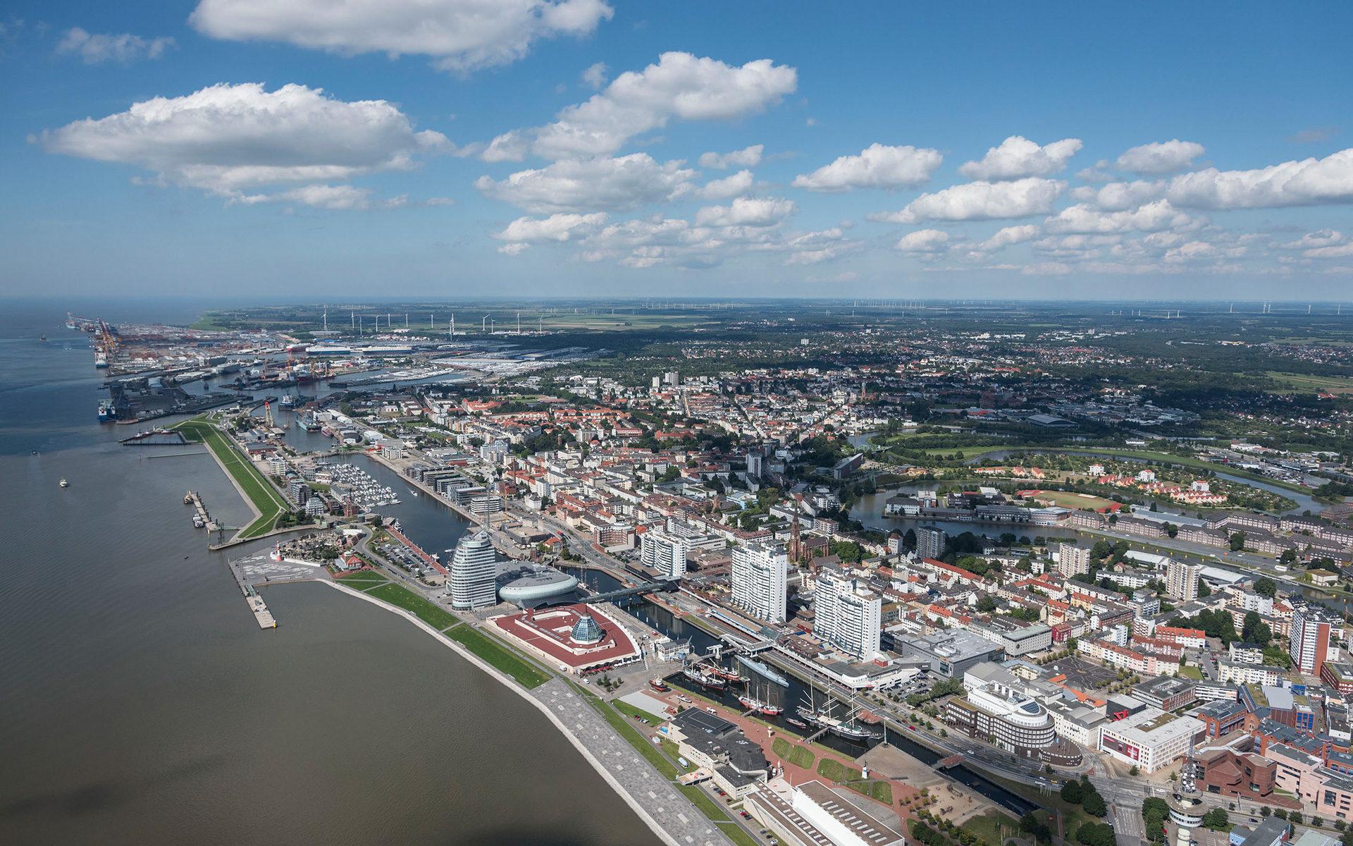 Bremerhaven aus der Luft fotografiert