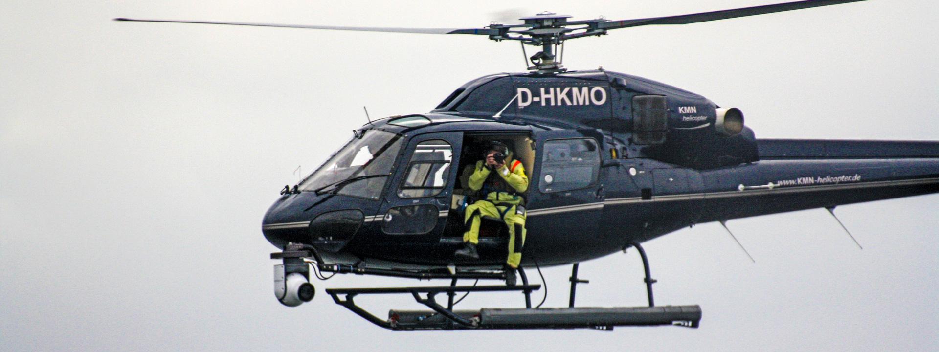Luftaufnahmen aus dem Helicopter heraus
